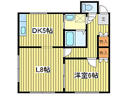 レジデンスN30[1階]の間取り