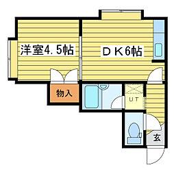 シャネルアベニュー[2階]の間取り