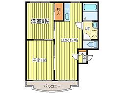 ノースリバーMS[2階]の間取り