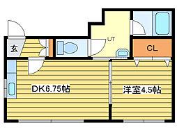 テクトルビル[4階]の間取り