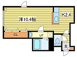 プレシャス18番館[3階]の間取り