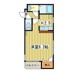 ノースコートN17[1階]の間取り