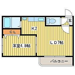 HKKS.com 11[3階]の間取り