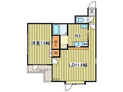 ヴェルコート栄町[2階]の間取り