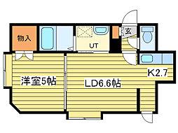 コーポ・コバ[3階]の間取り