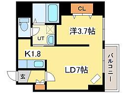 レジデンスタワー札幌[4階]の間取り