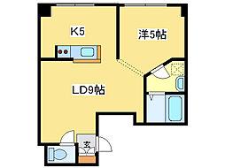 インフィル24[4階]の間取り