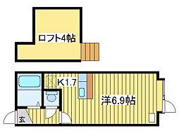 メゾンドリラ[1階]の間取り