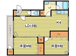 ドリーム35[4階]の間取り