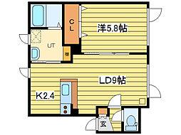 STELLA II[2階]の間取り