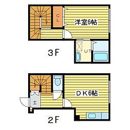 グラディート9−9[2階]の間取り