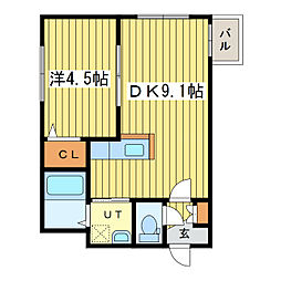 ル・ファールN25[1階]の間取り
