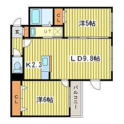 La Causa N18ラコーザN18[2階]の間取り