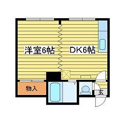 北海道札幌市白石区東札幌二条3丁目の賃貸アパートの間取り