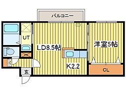 maison de fleur[2階]の間取り