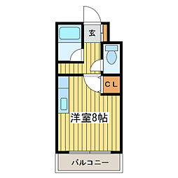 ハーモパレス札幌[3階]の間取り