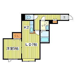 ケントハウスIII[3階]の間取り