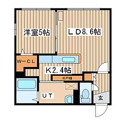 北海道札幌市東区北二十三条東16丁目の賃貸マンションの間取り