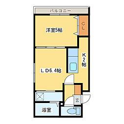 札幌市営東豊線 新道東駅 徒歩2分の賃貸マンション 5階1LDKの間取り