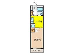 ハウス610[3階]の間取り