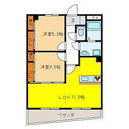 シェラトンAKATSUKA II[3階]の間取り