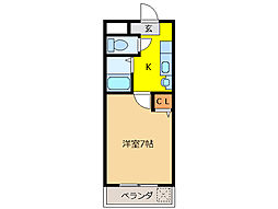 グラナイト尼ヶ崎[3階]の間取り