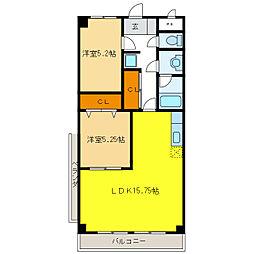ピア34[6階]の間取り