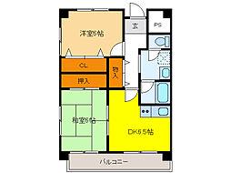 PLUS O2 BUILD[5階]の間取り