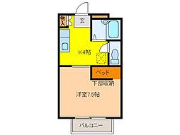マルニヤコーポ 2[1階]の間取り