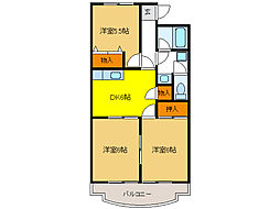 クレストール33[2階]の間取り