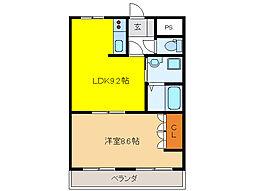 L`espace heureux[1階]の間取り