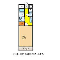 Castle Hills 柳ヶ瀬[3階]の間取り