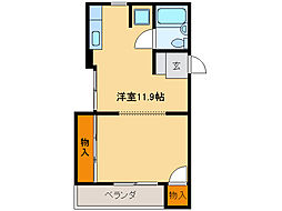 NINOMIYAハイツ[4階]の間取り