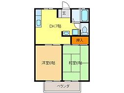 シェヌー戸崎[2階]の間取り