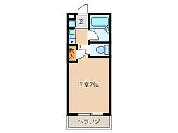 コーポラス浪花[2階]の間取り