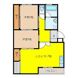 Glanz[4階]の間取り