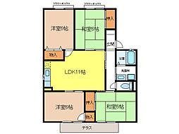 Seventh Court A棟[2階]の間取り