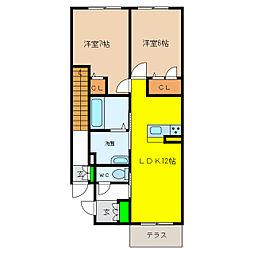 (仮称)シャーメゾン王子町[102号室]の間取り
