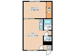 ドリーム24 2階1DKの間取り