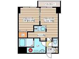ISLAND PALACE2 8階1LDKの間取り