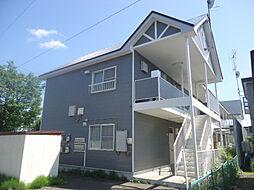 北海道北見市常盤町2丁目の賃貸アパートの外観