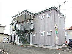 北海道北見市青葉町の賃貸アパートの外観