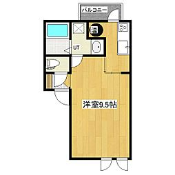 JR石北本線 柏陽駅 徒歩22分の賃貸アパート 1階1Kの間取り