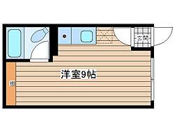 JR石北本線 北見駅 徒歩15分の賃貸アパート 2階ワンルームの間取り