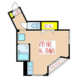 JS福重ビル 3階ワンルームの間取り