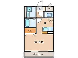 タウンルームけまり[1階]の間取り