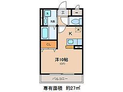タウンルームけまり[2階]の間取り