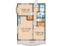 アミクレール21ANEX[2階]の間取り