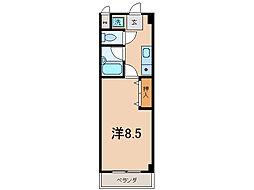 クローバーハイツIII[2階]の間取り