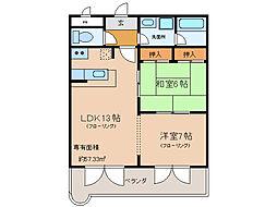 パークショア瀬田[2階]の間取り
